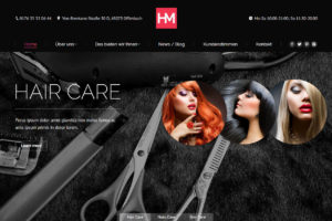 Beauty Website Startseite